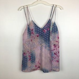 Skies Are Blue size M Floral Contrast Tank